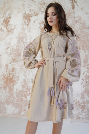 Платье «Магия» бежевого цвета