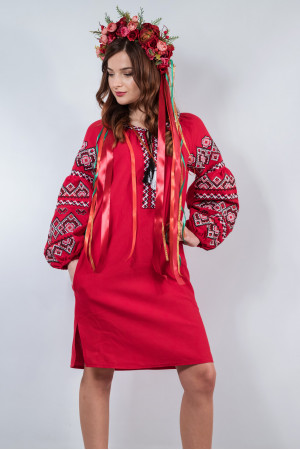 Платье «Сказка» вишневого цвета
