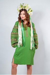 Платье «Сказка» зеленого цвета
