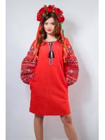 Платье «Сказка» красного цвета
