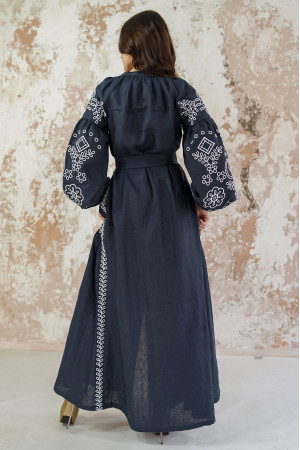Платье «Мережевные сны» темно-синего цвета