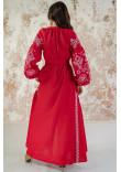 Сукня «Мережевні сни» червоного кольору