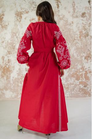 Платье «Мережевные сны» красного цвета