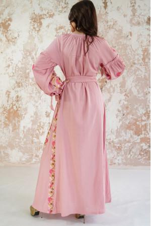 Платье «Рассветные росы» цвета пудры