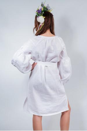 Сукня «Чарівність» білого кольору з білою вишивкою
