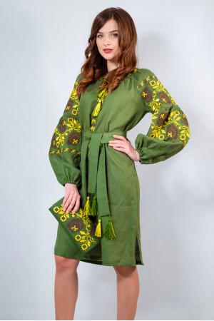 Платье «Очарование» цвета хаки