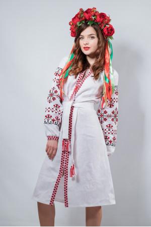 Платье «Оберег» белого цвета
