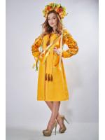 """Платье """"Оберег"""" желтого цвета"""