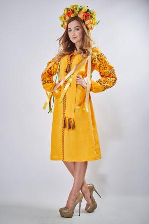 """Сукня """"Оберіг"""" жовтого кольору"""
