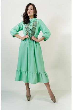 Платье «Шепот лета» мятного цвета