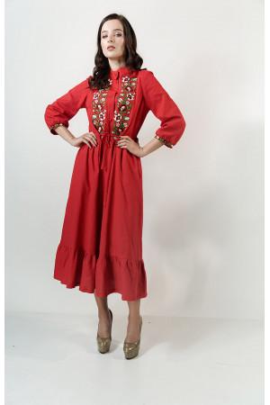 Платье «Шепот лета» красного цвета
