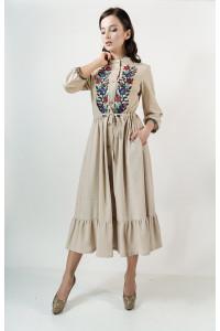 Платье «Шепот лета» бежевого цвета