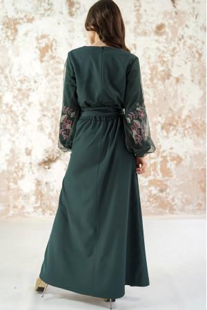 Платье «Вдохновение» изумрудного цвета