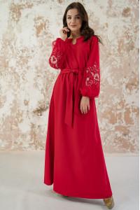 Платье «Вдохновение» красного цвета