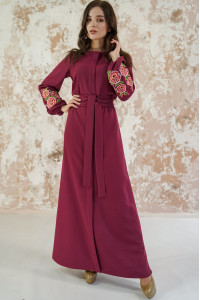 Сукня «Мальви» кольору бордо