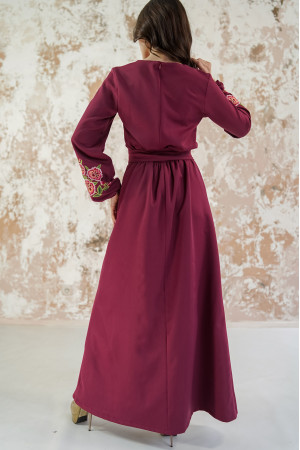 Платье «Мальвы» цвета бордо
