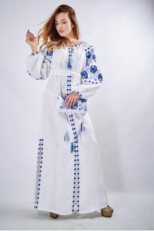 """Платье """"Очарование"""" белого цвета, длинное"""