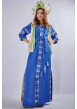 """Сукня """"Мотиви геометрії"""" синього кольору"""