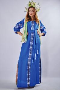 """Платье """"Мотивы геометрии"""" синего цвета"""