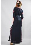 Сукня «Мотиви геометрії» темно-синього кольору