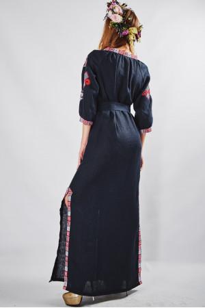 """Сукня """"Мотиви геометрії"""" темно-синього кольору"""