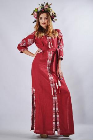 Платье «Мотивы геометрии» цвета бордо