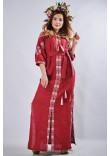 Сукня «Мотиви геометрії» кольору бордо