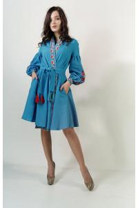 Платье «Колорит» голубого цвета