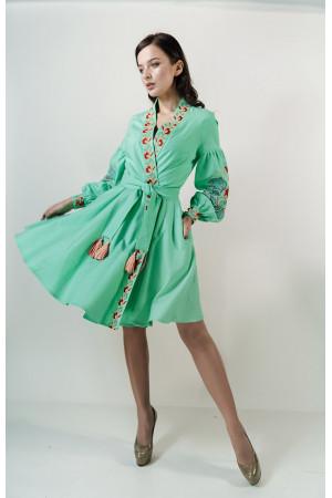Платье «Колорит» мятного цвета