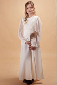 Платье для девочки «Тюльпановое поле» молочного цвета
