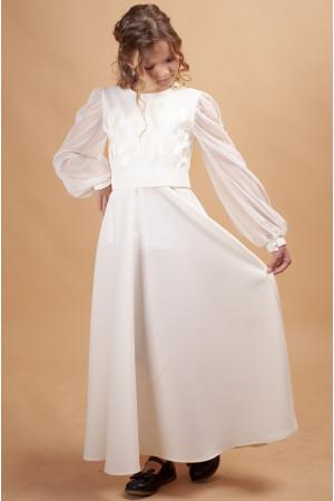 Сукня для дівчинки «Тюльпанове поле» молочного кольору