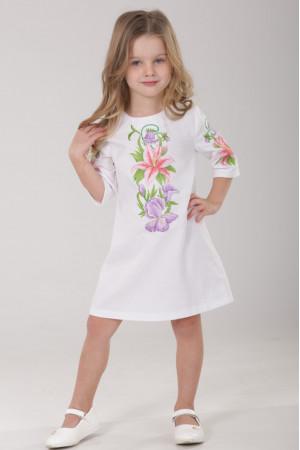 Платье для девочки «Лилия» белого цвета