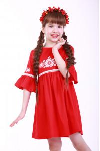 Сукня для дівчинки «Дитяча фантазія» червоного кольору