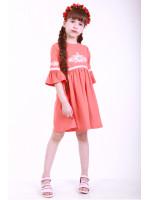 Платье для девочки «Детская фантазия» персикового цвета