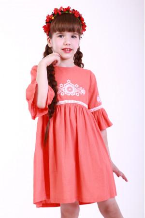 Сукня для дівчинки «Дитяча фантазія» персикового кольору