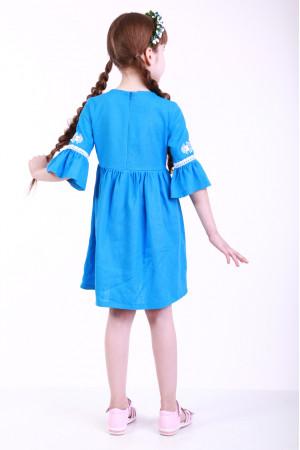 Сукня для дівчинки «Дитяча фантазія» блакитного кольору