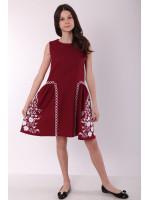 Платье для девочки «Мелодия» бордового цвета