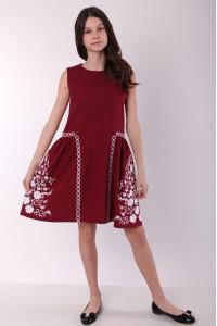 Сукня для дівчинки «Мелодія» бордового кольору