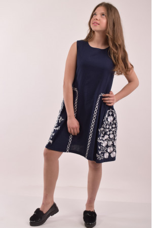 Сукня для дівчинки «Мелодія» темно-синього кольору