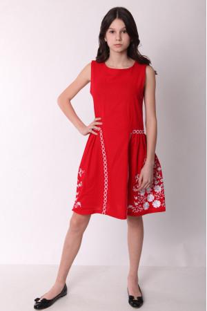 Платье для девочки «Мелодия» красного цвета