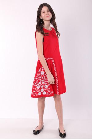 Сукня для дівчинки «Мелодія» червоного кольору