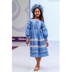 Сукня для дівчинки «Феєрія» блакитного кольору, довга
