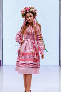 Платье для девочки «Феерия» розового цвета, длинное