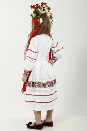 Платье для девочки «Феерия» белого цвета, длинное