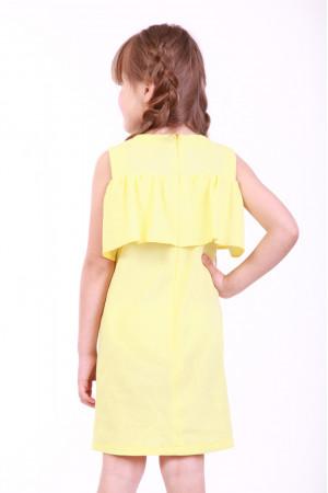 Сукня для дівчинки «Мак польовий» жовтого кольору