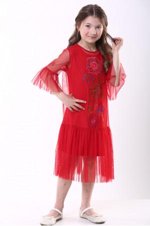Сукня для дівчинки «Квіткова» червоного кольору