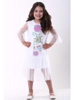 Сукня для дівчинки «Квіткова» білого кольору