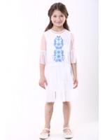 Сукня для дівчинки «Ромашкова» білого кольору