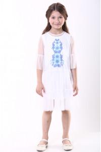 Платье для девочки «Ромашковое» белого цвета