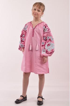 Сукня для дівчинки «Левада» рожевого кольору